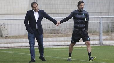 Un Espanyol en llamas despide a Quique Sánchez Flores y Jordi Lardín