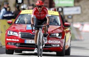 Nairo Quintana, camino de la victoria en la última etapa de la París-Niza.