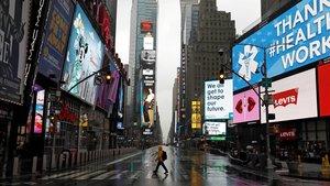 Vista de hoy de Time Square en Nueva York.