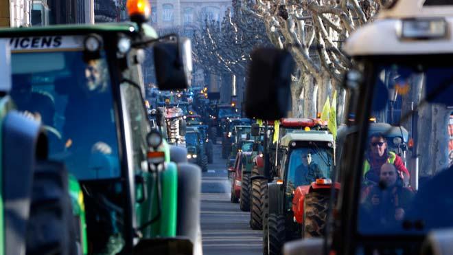 Tractorada de protesta a Lleida en demanda de preus agrícoles justos
