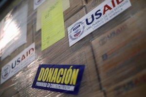 Cargamento de ayuda humanitaria procendente de EEUU para Venezuela.