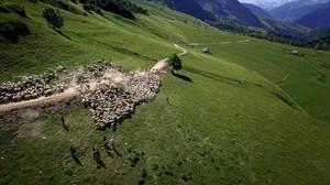 Una imagen de la serie de El 33 Viure als Pirineus.