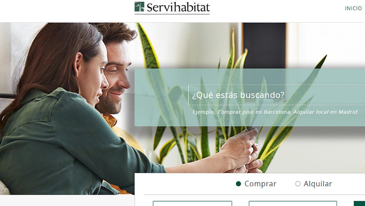 La web de Servihabitat.
