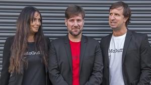 Mònica Pérez,Carlos Latre y Jordi Ríos, responsables de McGuffin.