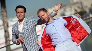 Alfonso Sánchez (izquierda) y Alberto Pérez, en Málaga.