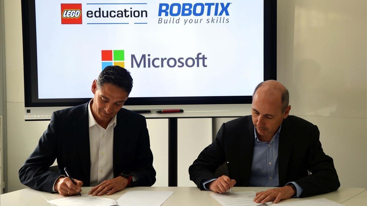 Alianza de Microsoft y Lego para las escuelas