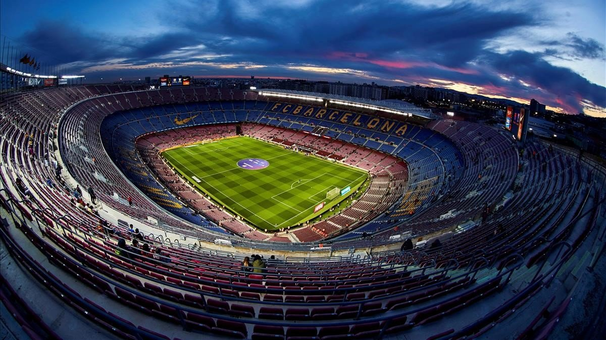 Imágen aérea del Camp Nou.