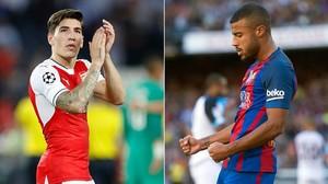 Bellerín, el lateral derecho del Arsenal; Rafnha, el centrocampista del Barcelona.