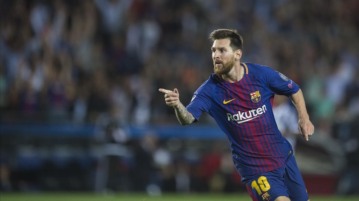 Messi, tras anotar el tercer gol a la Juventus.