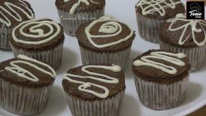 Muffins de almendra y chocolate.