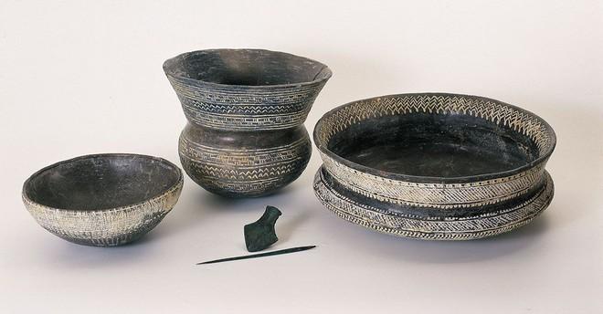 Conjunto de cerámica campaniforme.