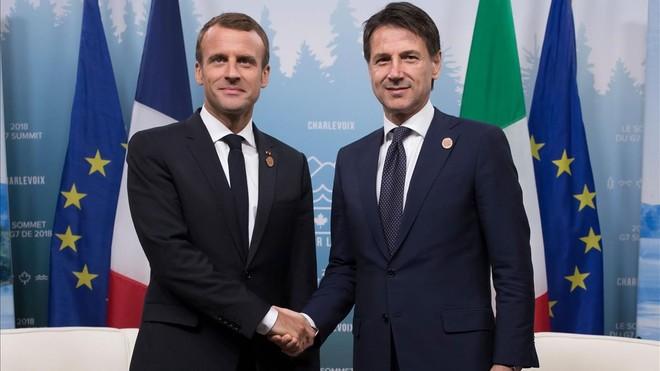 Conte acepta la invitación de Macron para verse en París y superar la crisis diplomática
