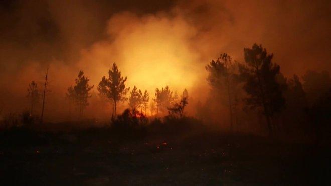 Activo un incendio en a Gudina en Ourense tras quemar unas 440 hectáreas.