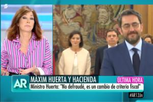 """Ana Rosa habla sobre la condena de Màxim Huerta: """"Debería ampliar las explicaciones"""""""