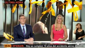Angie Rigueiro y Ángel Carreiro en el informativo matinal de Antena 3 Noticias.
