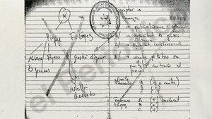 Anotaciones en la libreta con listas de Mossos
