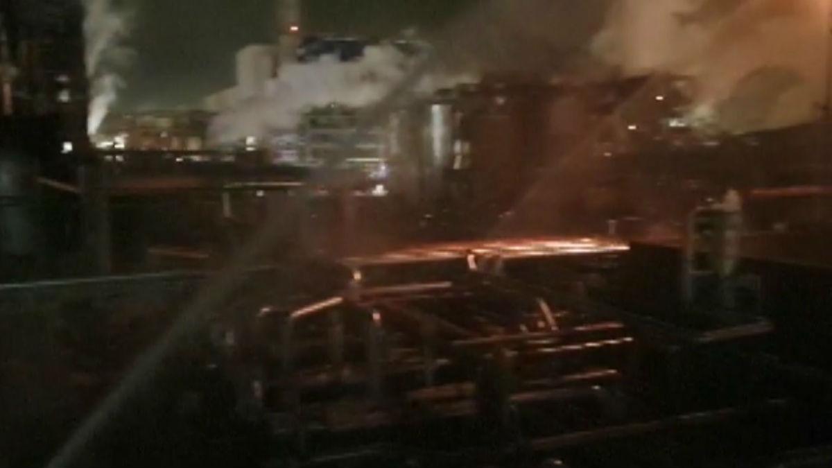 Zona interior donde se ha producido la explosión.