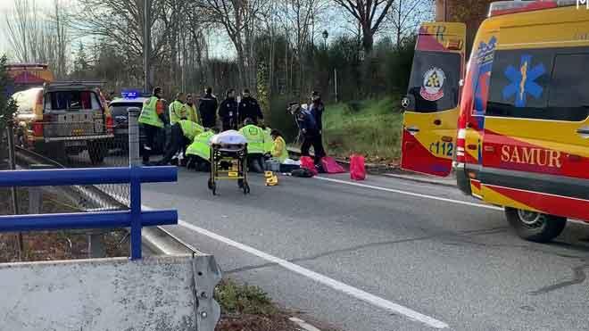 Muere un hombre de 65 años tras ser atropellado en Madrid.