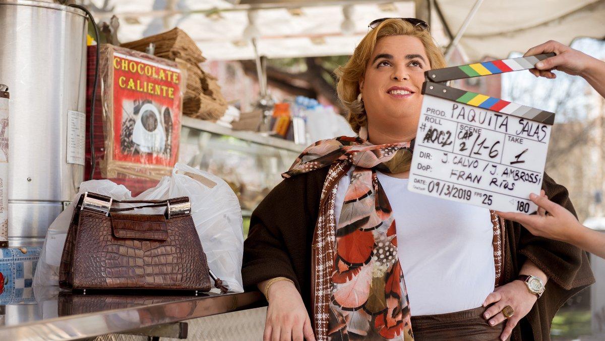 Brays Efe, en el rodaje de 'Paquita Salas'.