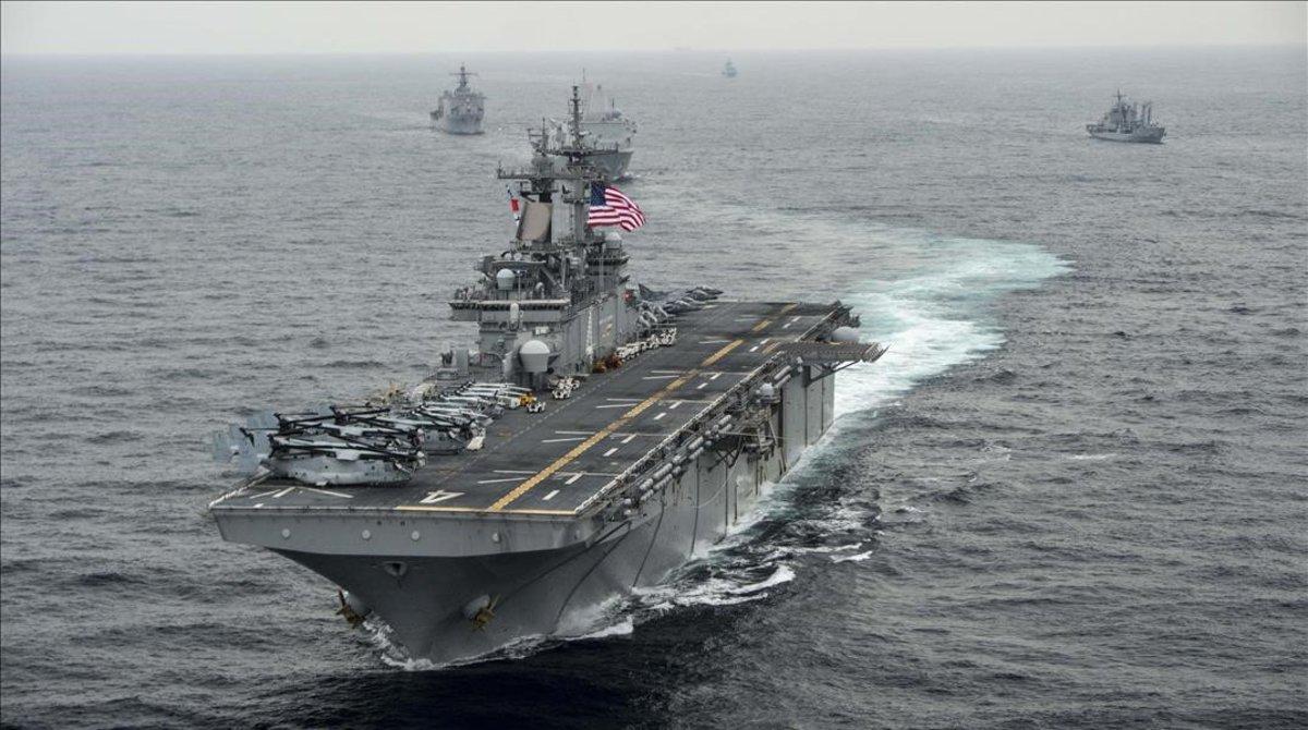 El buque estadounidense 'USS Boxer'.