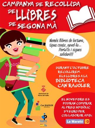 Campaña de recogida de libros en Parets a favor de la Marató de Tv3.