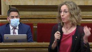 Àngels Chacón, en el Parlament este 8 de julio.