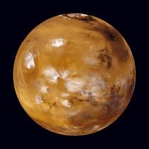 Fotografía facilitada por la NASA del planeta Marte.