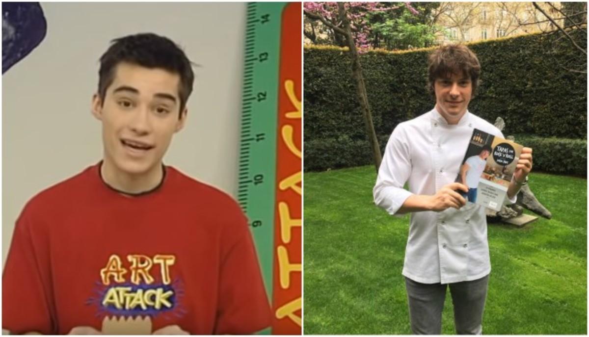 Imágenes deJordi Cruz, presentador del programa 'Art Attack' a la izquierda, y Jordi Cruz, cocinero y jurado de concurso 'Mastercheff', a la derecha.