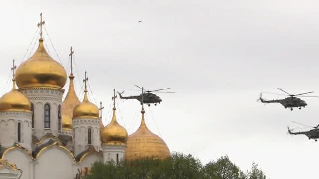 Homenaje en Moscú a los soldados caídos yveteranos de la segunda guerra mundial.