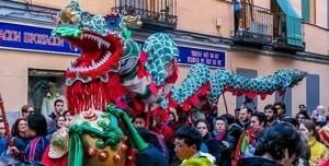 Desfile Año Nuevo Chino en Madrid en 2017.