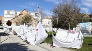 Suspendida la Fira d'Ensenyament de Badalona por el fuerte viento