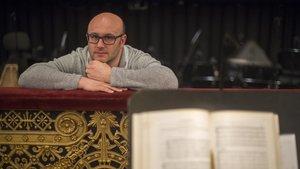 El director de orquesta italiano Riccardo Frizza, en el Liceu