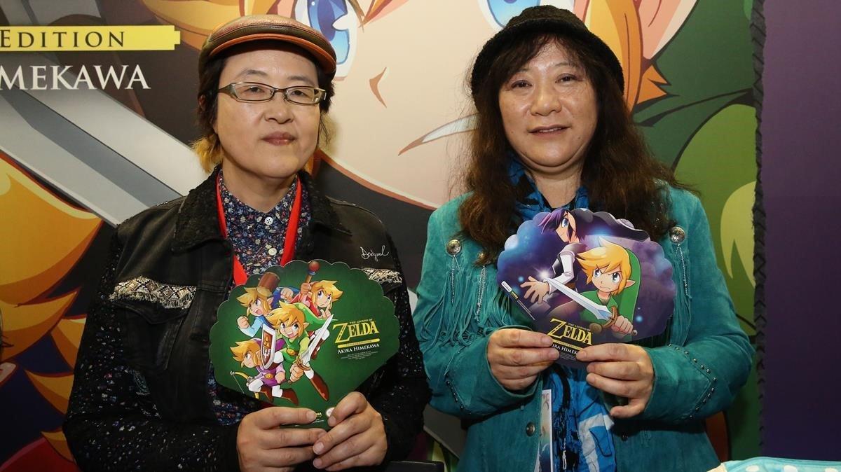 El dúo Akira Himekawa, autoras del manga de The Legend of Zelda.