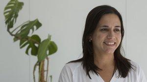 Astrid Crespo, en las instalaciones del Hospital de Sant Pau