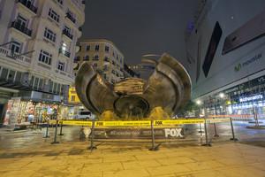 Ovni en Madrid. Promoción de la serie Expediente X de la cadena Fox.