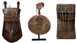 La exposición 'Músiques als dits' presenta 30 tipos de sanzas africanas de las culturas Luba, Dan y Chowkwe.