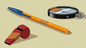 Un xiulet, un cronòmetre i un bolígraf