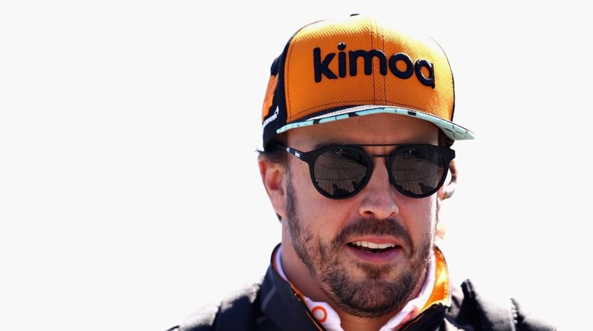 Fernando Alonso llegó ayer a Le Mans para preparar su participación, con Toyota, en las 24 Horas.
