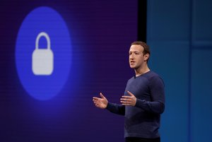 FILE PHOTO Facebook CEO Mark Zuckerberg speaks at Facebook Inc s annual F8 developers conference in San Jose California U S May 1 2018 REUTERS Stephen Lam File Photo