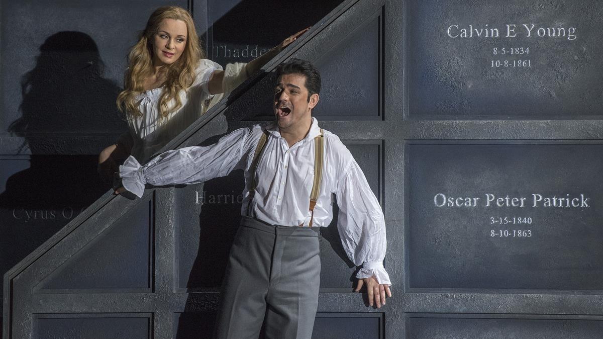 Ensayo general de la opera Romeo y Julieta en el Liceu