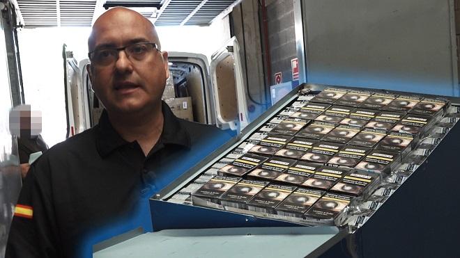 Grabamos la incautación de tabaco de contrabando en el aeropuerto de El Prat