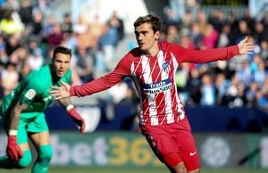 Griezmann celebra el primer gol del Atlético, marcado a los 39 segundos.
