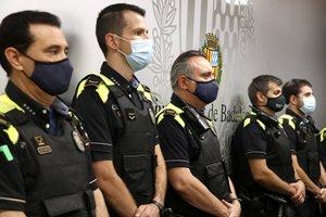 Agentes de la Guardia Urbana de Badalona, el 21 de septiembre de 2020 durante la presentación de la nueva policía de barrio