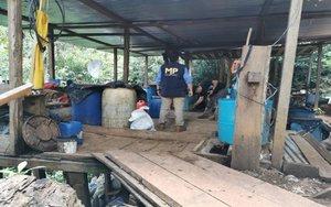 Un laborartorio clandestino de drogas en Guatemala.