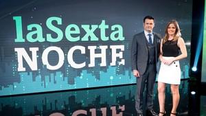 Iñaki López y Andrea Ropero, presentadores de laSexta noche