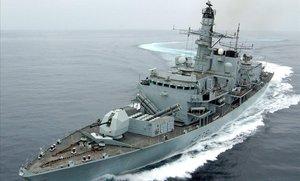 El incidente obligó la intervención de la fragata 'HMS Montrose'.