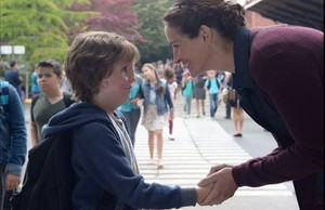 Jacob Tremblay y Julia Roberts, en Wonder .