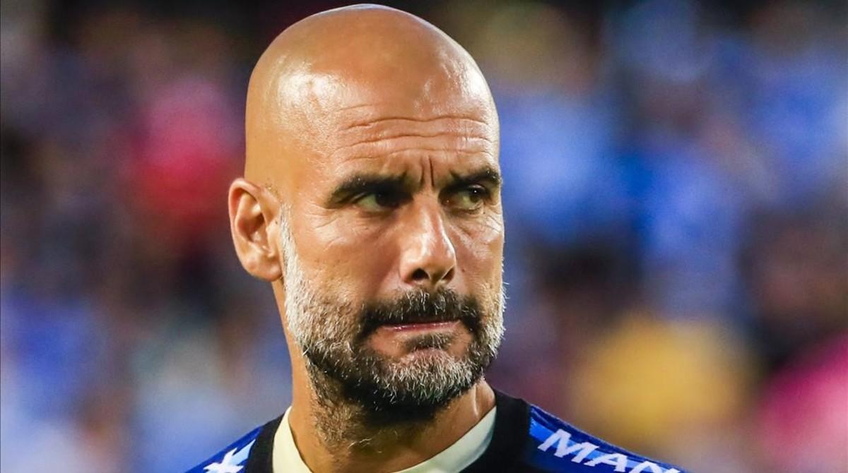 Pep Guardiola, en la gira por EEUU con el Manchester City.