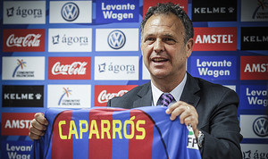 Joaquín Caparrós, el día de su presentación como técnico del Levante.