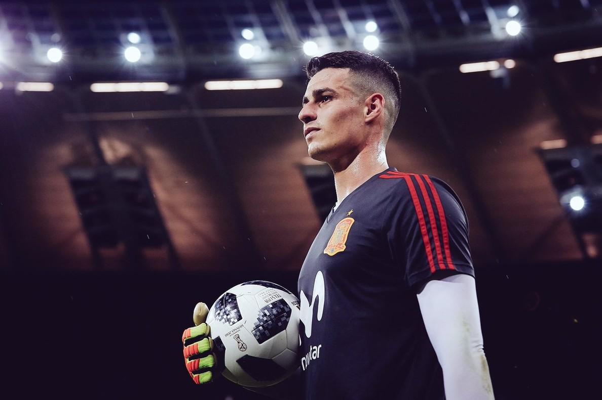 Kepa, con el uniforme de España.